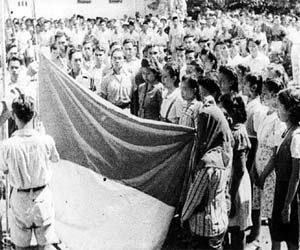 Benderan merah putih pertama